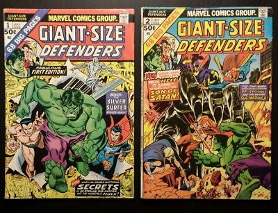 Giant Size Defenders 1 and 2 (1974, Marvel) lot of two books-combined shipping