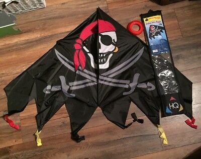 "HQ 54"" Delta Jolly Roger Kite - Single Line Kite Flying Outdoor Fun Kids Child"