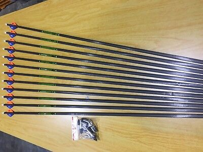 Gold Tip Hunter XT Arrows. One Dozen 3555 (#6823)