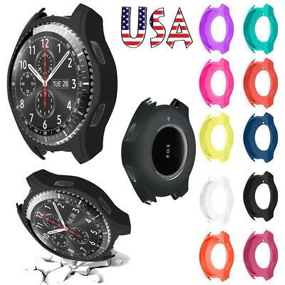 High Quality Silicon Slim Smart Watch Case Cover For Samsung Gear S3 Frontier
