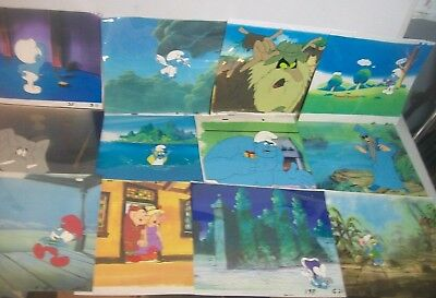 'THE SMURFS' 1980s collection of Animation art production cels Lot of 12! #1