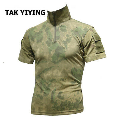 Summer Camouflage T Shirt Men Army Combat Military Uniform Tactical T-Shirt