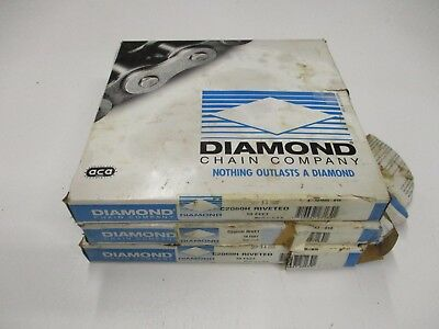 3 Diamond C2060H Riveted Roller Chain 10Ft