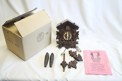 Vintage Dold Black Forest German Wooden Cuckoo Clock w/ Box New Old Stock