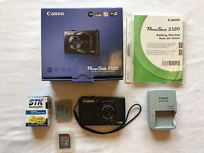 Canon PowerShot S120 12.1MP Digital Camera - Black - WiFi, Touch Screen!