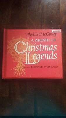 A Wreath of Christmas Legends, by Phyllis McGinley, Hardcover, Copyright 1967