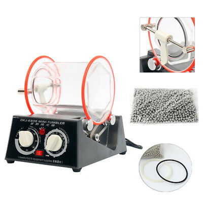 KT6808 Jewelry Polisher Tumbler 3Kg Mini Surface Polisher Rotary Tumbler