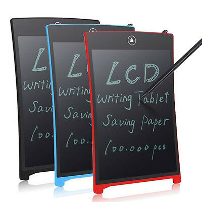 """Lot LCD Writing Pad Notepad Electronic Drawing Tablet Graphics Board 12/8.5"""""""