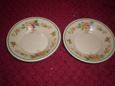 """Pair of Royal Doulton """"Wattle"""" Small 10cms Dishes/Saucers  c.1930's"""