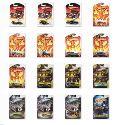 Hot Wheels Halloween Fright Cars 2006 2007 2009 2010 2012 2013 2014 exclusive