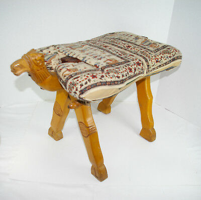 Camel Saddle Stool Vintage