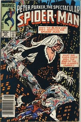 SPECTACULAR SPIDER-MAN #90 1984 TIES w/ SPIDERMAN #252 1ST BLACK COSTUME