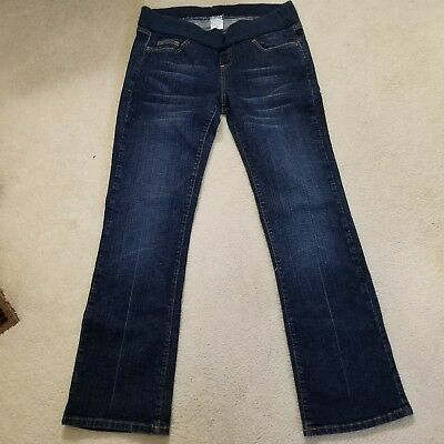 Motherhood Maternity Womens Jeans Size Large Dark Wash Low Panel