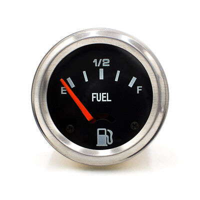 "2"" 52mm Mechanical Auto Car Fuel Level Gauge Without Sensor E-1/2-F Pointer 12V"