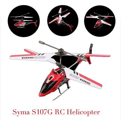 Syma 3 Channel S107G Mini Indoor Co-Axial R/C Helicopter Gyro Red RC LOT A6