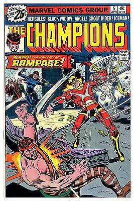 CHAMPIONS 5 NM- BLACK WIDOW GHOST RIDER HECK ART BUCKLER COVER 1976 Marvel