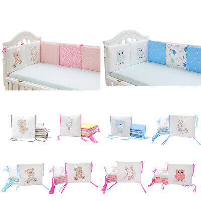 6PC Crib Bumpers Baby Bed Cot Protector Infant Safe Nursery Bedding Pad Hot Sale