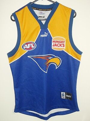west coast eagles puma afl on field jersey guernsey shirt top size L