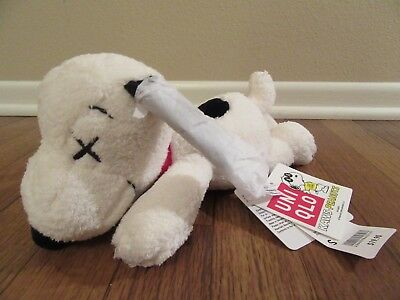 KAWS x UNIQLO x PEANUTS Small Snoopy Plush Stuffed Animal Toy Collectible New DS