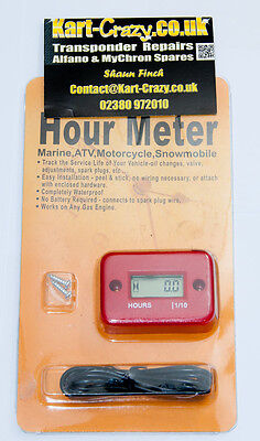 Kart Motor Hour Meter - orange/rot