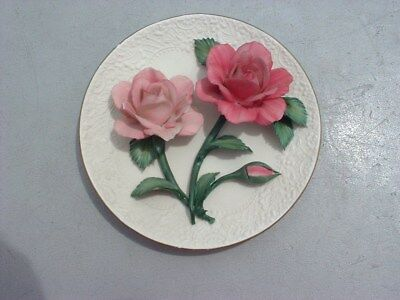 Franklin Mint Limited Edition Silver Lavender Roses of Capodimonte