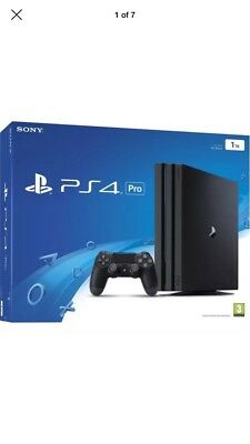 Sony PlayStation 4 Pro 1TB Jet Black Console (brand new + sealed)