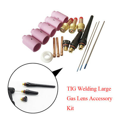 Compact TIG Welding Large Gas Lens Accessory Kit Cup-Collet-Gas Good Helper Nice