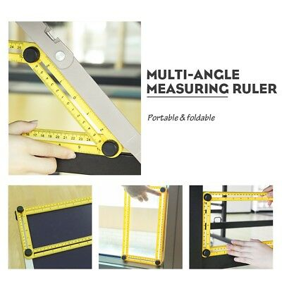 Adjustable Measuring Magic Angle Ruler Hand Tools Multi-Angle Template Folding