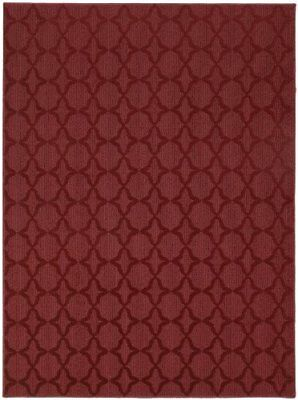 Garland Rug Sparta Area 7-Feet 6-Inch by 9-Feet Chili Red Mats Rugs Nursery Baby