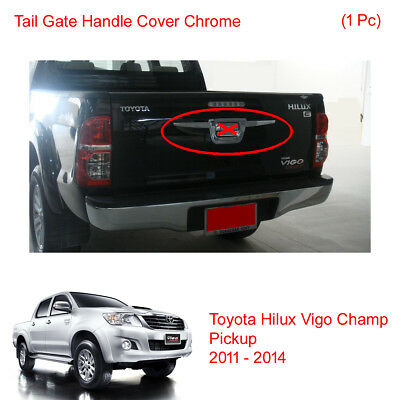 Tail Gate Accent Handle Cover Chrome Fits Toyota Hilux Vigo Champ 2011 - 2013 14