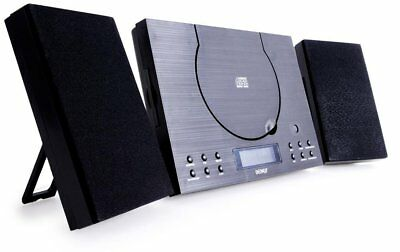 Denver MC-5010 CD Player Bluetooth System - Wall Mountable, Compact Stereo With