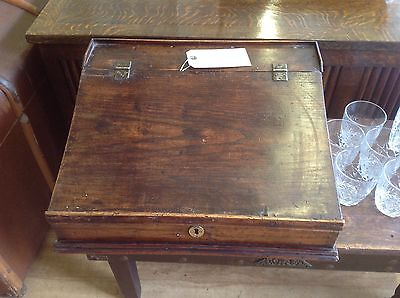 Antique Victorian Clerks Stained Pine Writing Slope