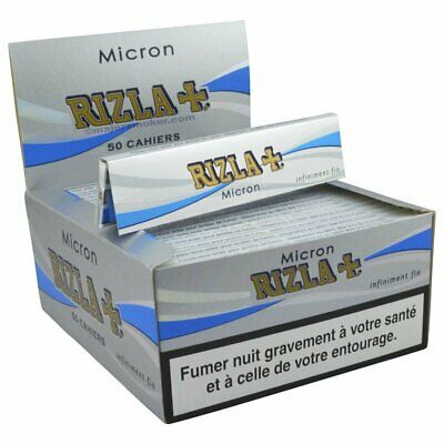 Rizla 1600 CARTINE micron king size slim box da 50 libretti