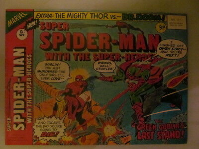 Comic. super spiderman with the superheroes issue 171 may 22 1976