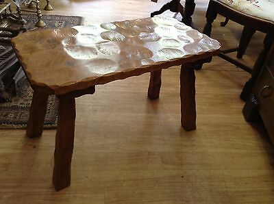 Vintage Handcrafted Mouse Man Style Oak Table