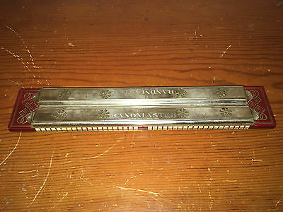 "ANTIQUE 1940's ""THE BANDMASTER"" 13"" L. -HARMONICA-MADE IN OCCUPIED GERMANY-5 KEY"