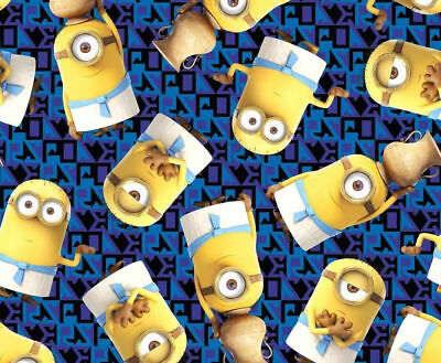 Minions Fabric Despicable Me Royal Egyptian Cotton Quilting Treasure By The Yard