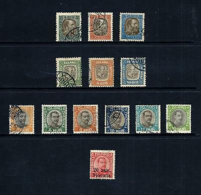 ICELAND _ 1902+ 'OFFICIAL' 14 _ used ____(497)