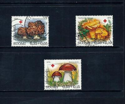 FINLAND _ 1974 'RED CROSS' SET of 3 _ used ____(497)