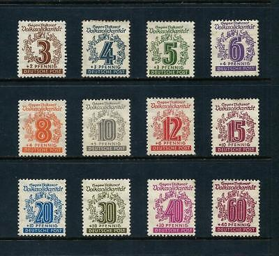 WEST SAXONY _ 1946 'PEOPLE SOLIDARITY' SET of 12 _ mh ____(497)