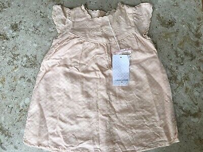 Louis Louise Paris baby girls pink/ peach Carlotta dress age 6 months