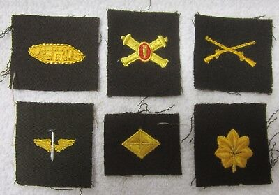 WWII WW2 US Military Unfinished Patch Lot of 6 Cannons Wings Infantry + More