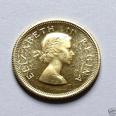 South Africa 1/2 Pound 1953 Gold Coin Low Mintage
