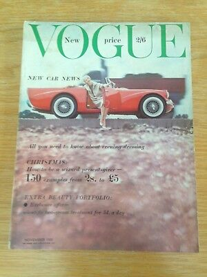 Vintage British Vogue magazine from November 1959