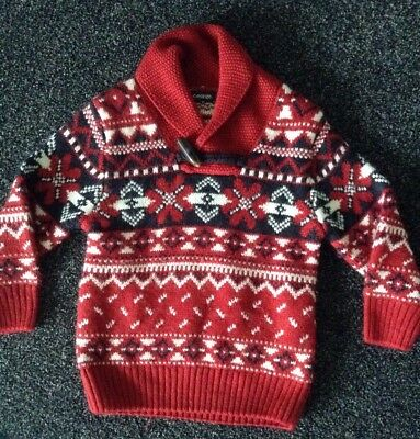 Baby Boy Winter Christmas Jumper 12-18 Months 1 Year