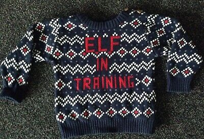 Baby Boy Christmas Winter Jumper 12-18 Months 1 Year