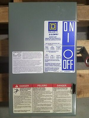 Square D PQ4603G 30 amp 600 volt bus plug 4 wire w ground fusible busway GC