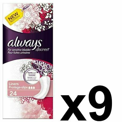Always Discreet Sensitive Bladder Incontinence Panty Liners OdourLock - 216 Pack