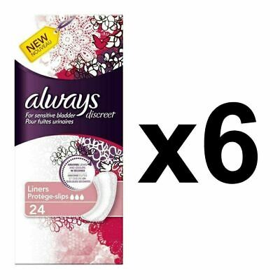 Always Discreet Sensitive Bladder Incontinence Panty Liners OdourLock - 144 Pack
