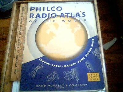 1935 PHILCO RADIO ATLAS Short Long Wave Stations ad antique vintage old